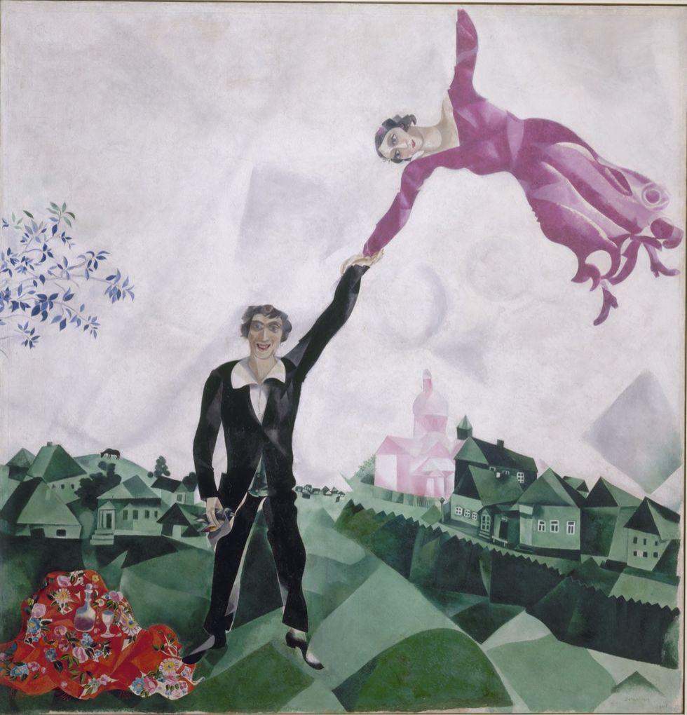 Chagall. la passeggiata.