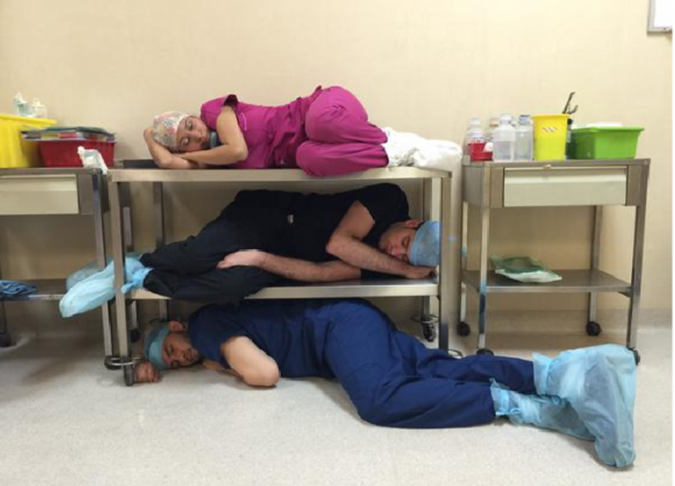 Doctors Rally With Candid Napping Pics to Show the Need for Sleep