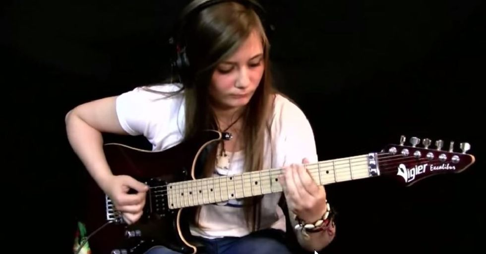Enter Sand-Girl: Headbanging Teenager Shreds on Metallica