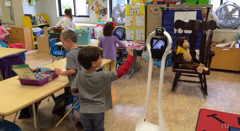Helped by His Robot Pal, This Sick Child Telecommutes to School