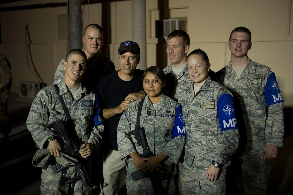 Jon StewartFights to Break Military Veterans Into the TV Industry
