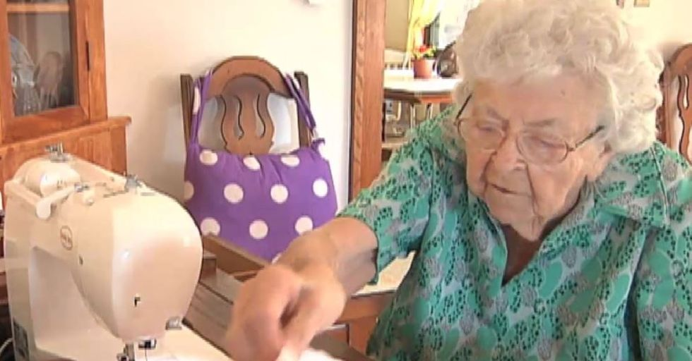 100-Year-Old Woman Sews a New Dress Every Day for Girls in Africa
