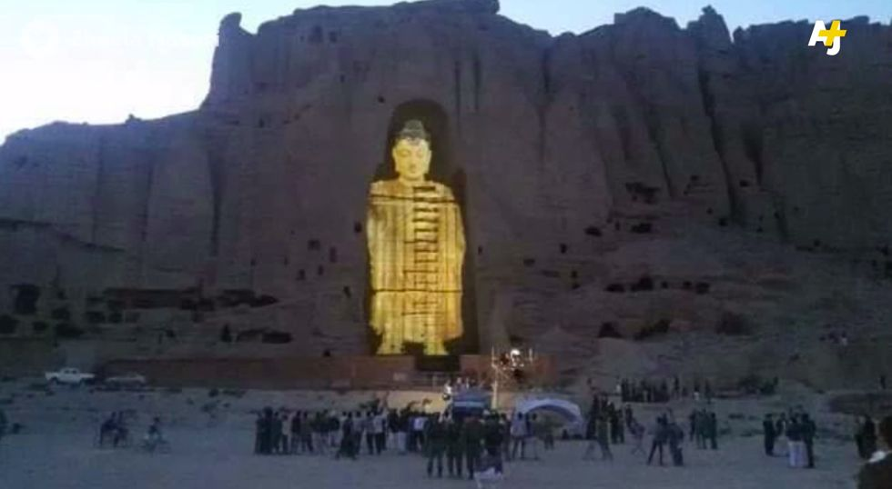 Artists Rebuild Destroyed Buddha Statues With Ghostly 3D Projection