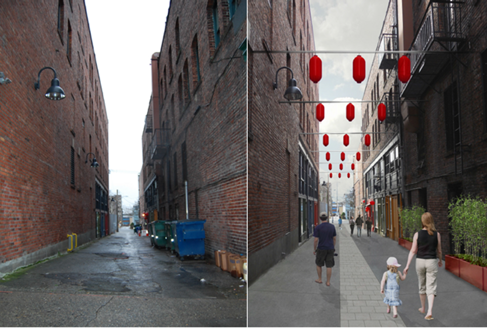 Seattle Plans to Turn Its Dark Alleys Into Bright Community Hubs