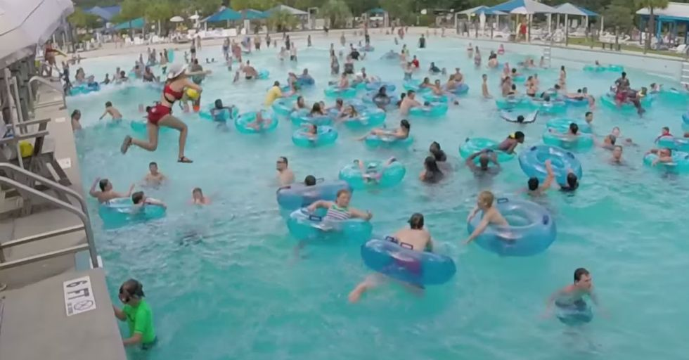 Try to Spot the Drowning Person Before This Lifeguard Does