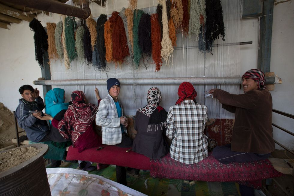 What Happens When American Artists Meet Afghan Rug Weavers