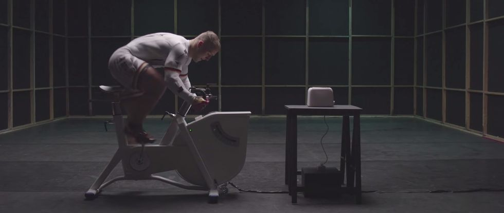 Olympic Athlete Uses Pedal Power to Toast Bread and Make a Point