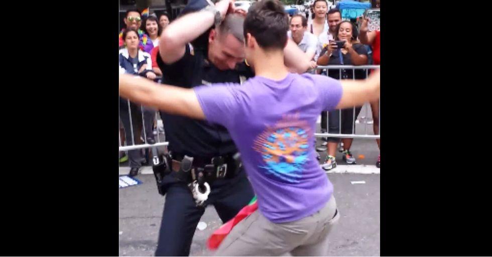 NYPD Officer Shows Off Dance Skills at Gay Pride Parade