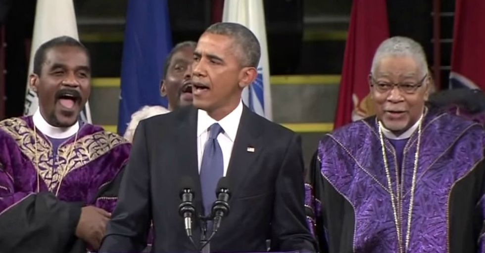 "Watch President Obama's Moving Rendition of ""Amazing Grace"""