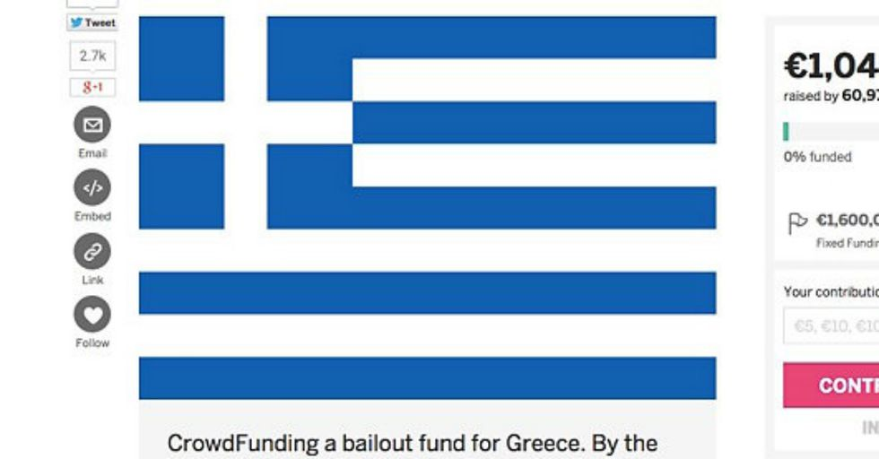 Can Ambitious Crowdfunding Help Bail Out Greece?
