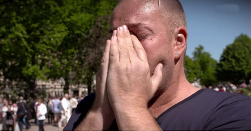 An HIV-Positive Man Asks Strangers to Touch Him. Their Responses Bring Him to Tears.