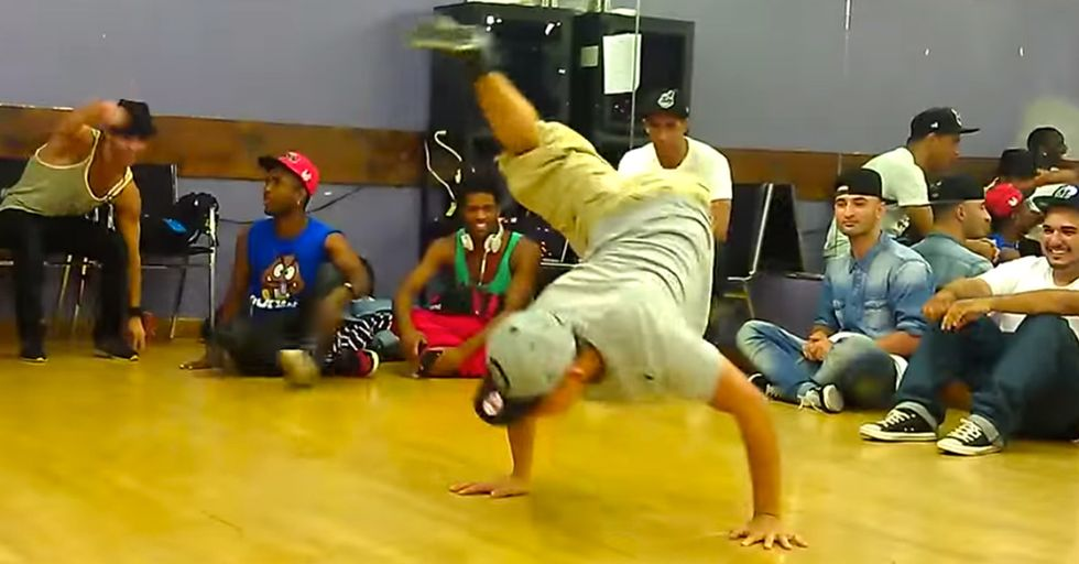 One-Legged Breakdancer Shows Off His Moves