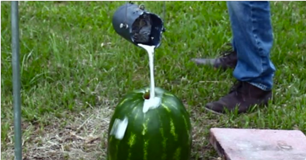 Here's What Happens WhenArt, Science, And Watermelons Collide.