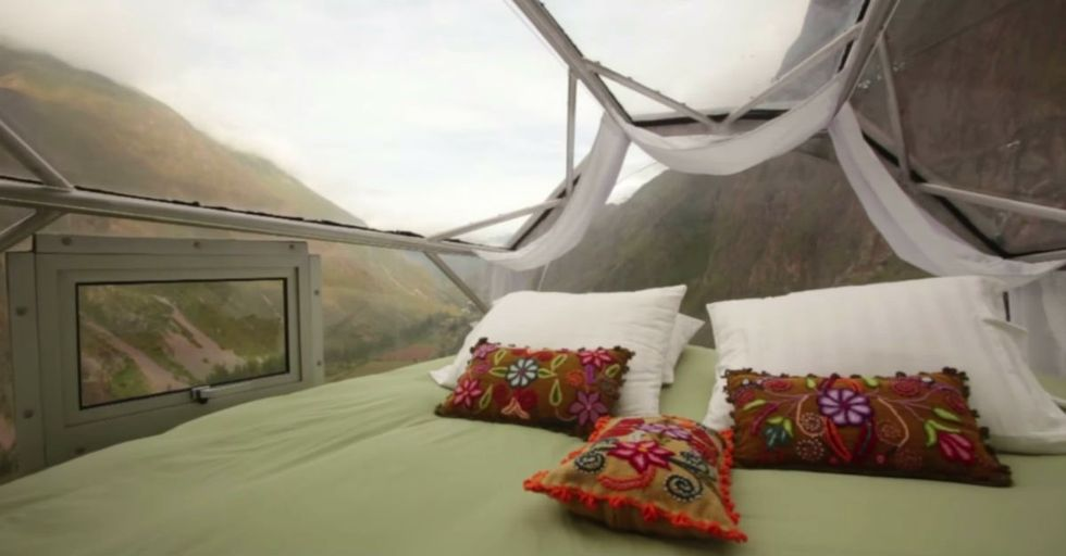 This New Hotel Dangles From a Mountain. It's Incredible. And Terrifying.