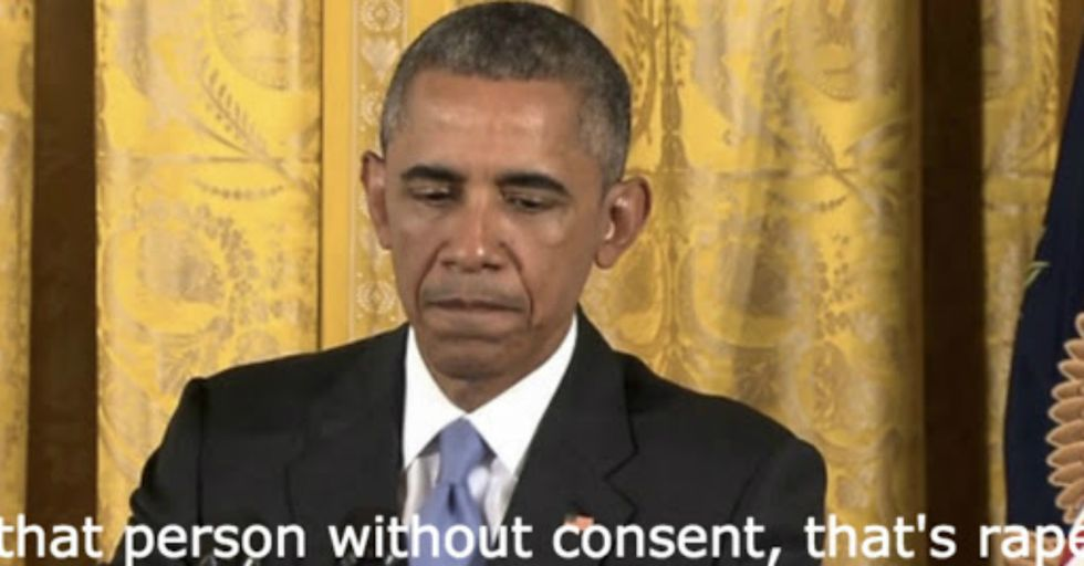 """Obama Defines """"Rape"""" When Questioned About Cosby"""