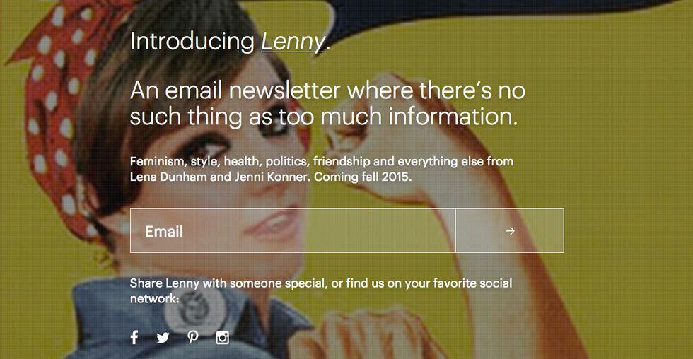 Meet Lenny, Lena Dunham's Forthcoming Feminist E-Newsletter