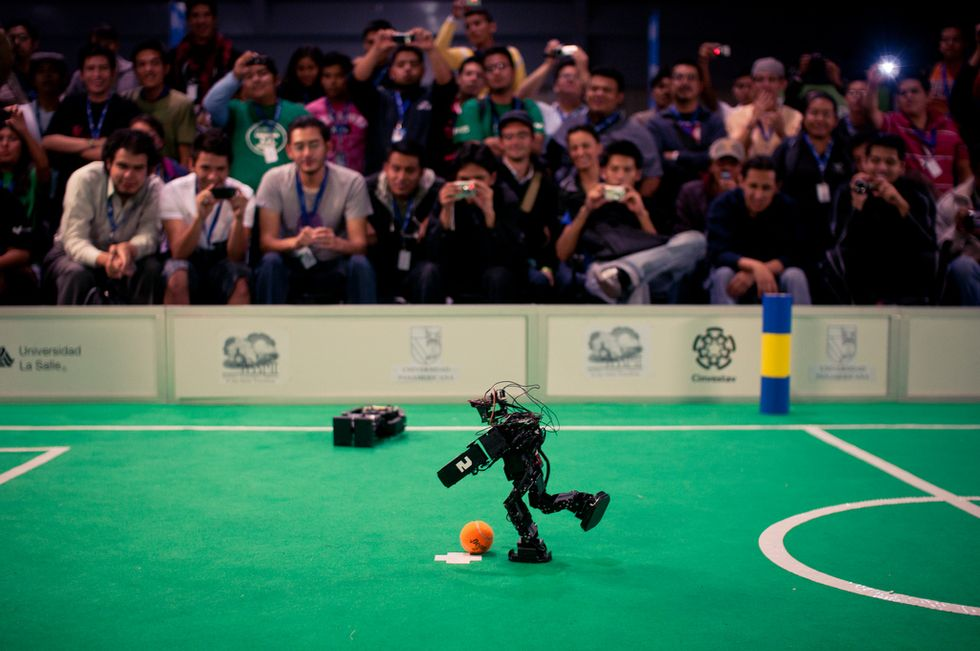 America and Iran Settle Their Differences on the Robotic Soccer Field