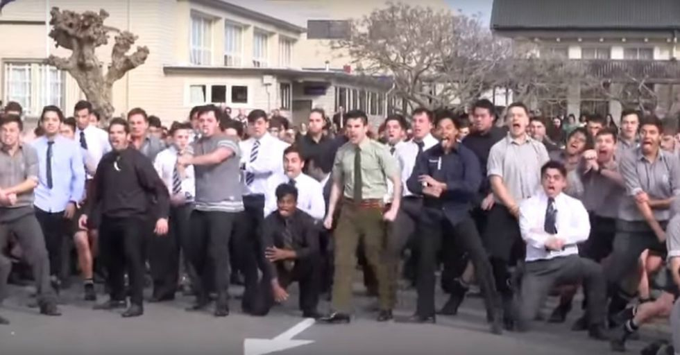 Students Perform Moving Tribute for Recently Deceased Teacher Who Taught Them Amazing War Dance