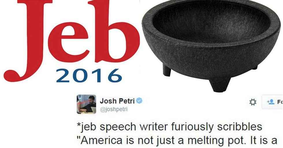 Jeb Bush Campaign Sells Guacamole Bowl for $75, Twitter Erupts