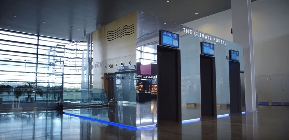 """Stockholm's Airport Now Features a """"Climate Portal"""" That Brings Your Destination's Weather to You"""