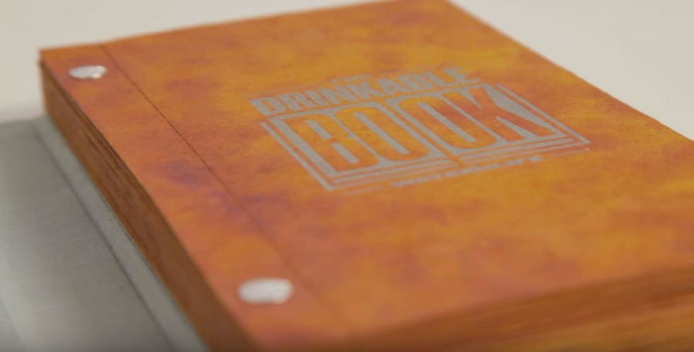 This 'Drinkable Book' Is Saving Lives by Purifying Water, One Page at a Time