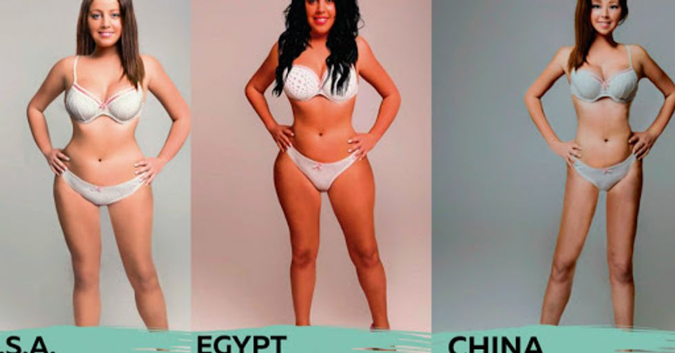 How 18 Different Countries Photoshopped One Woman to Fit Their Idea of 'Beautiful'
