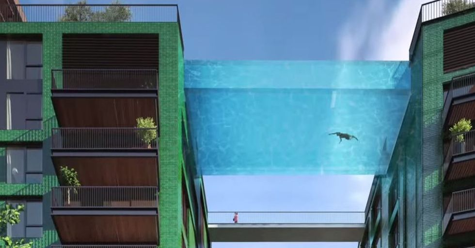 New Sky Pool Lets You Swim 115 Feet Above London