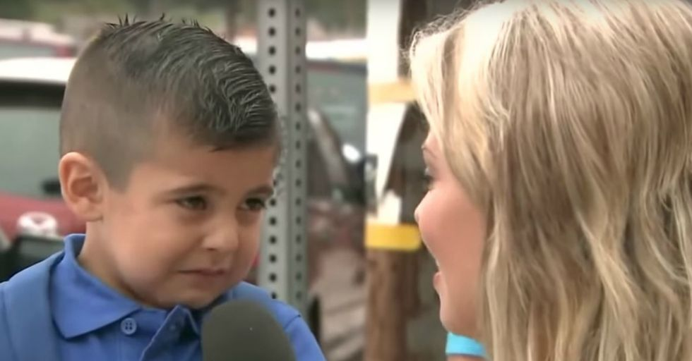 Reporter Asks Kid the Wrong Question on His First Day of School