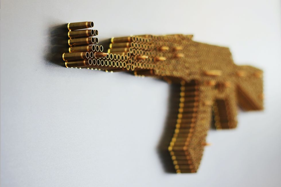 Art Made of Guns and Ammo Urges Us to Explore Our Complex Relationship With Firearms