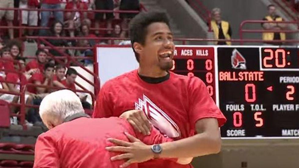 Freshman Wins Unlikely 'Basketball Scholarship' With Halfcourt Shot
