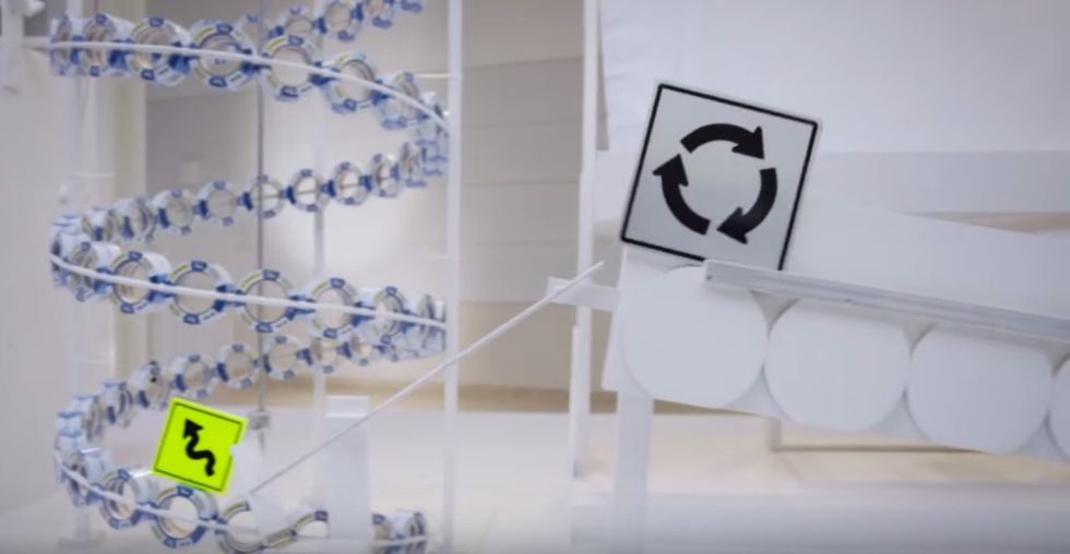 Behold! This Amazing Rube Goldberg Machine Runs on Painter's Tape and Post-it Notes