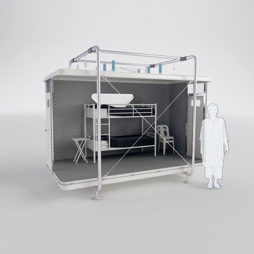 This Shelter Assembles in Just One Hour—and Could House Disaster Victims for Four Months