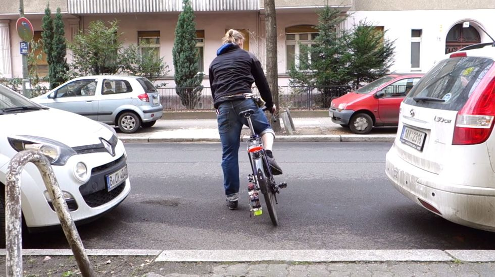 New Bike Rig Makes It Easier Than Ever for Cyclists to Do Something About Pesky Potholes