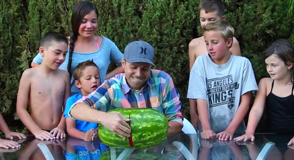 """Skin a Watermelon"" Trick is Very Cool. And a Little Creepy."