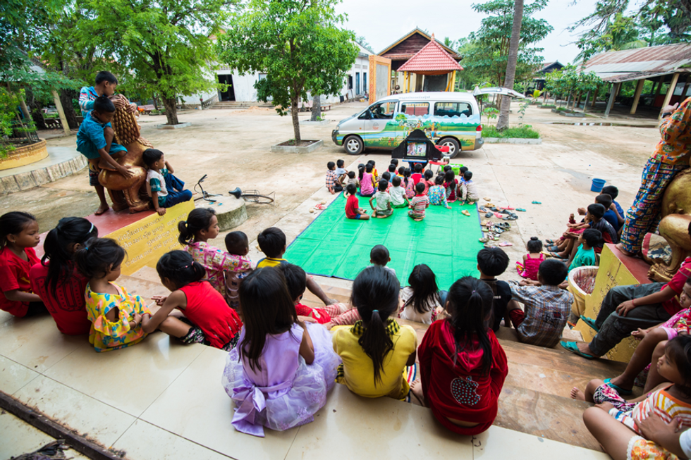 By Van or Tablet, Mobile Libraries Are Fixing Cambodia's Book Crisis