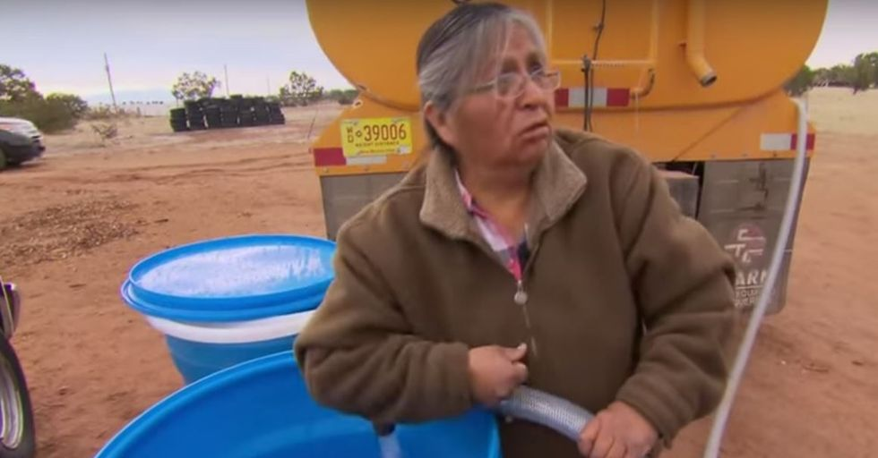 """Navajo """"Water Lady"""" Provides Water to 250 Reservation Families a Month"""