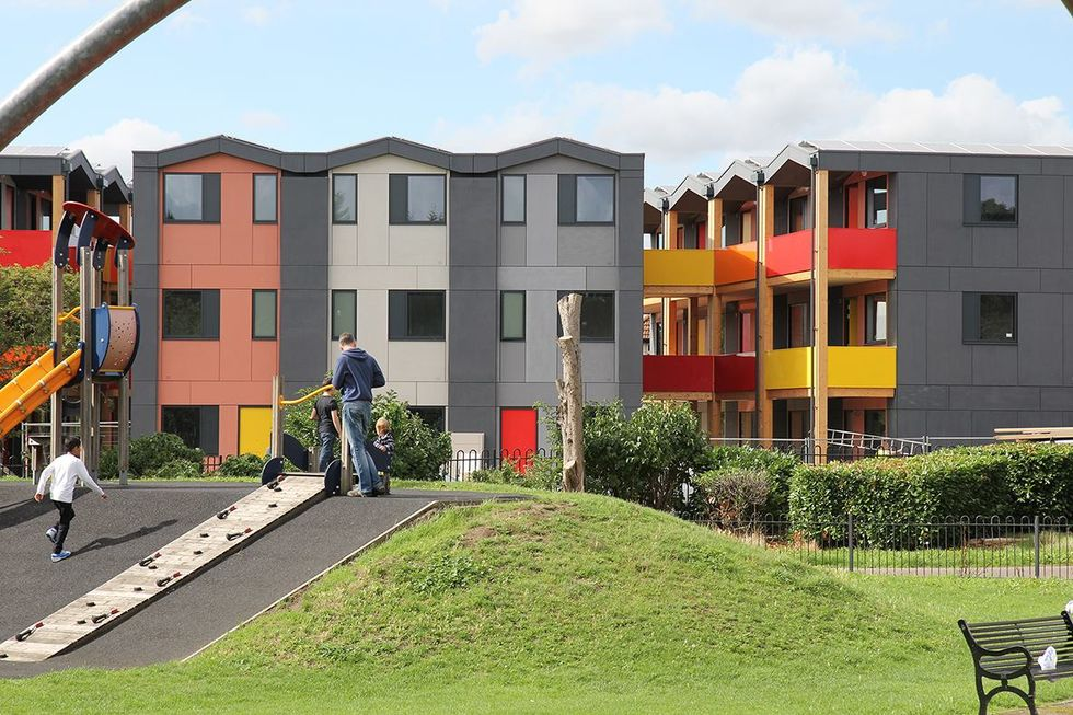 The Colorful, Stackable Apartments Built for the Homeless