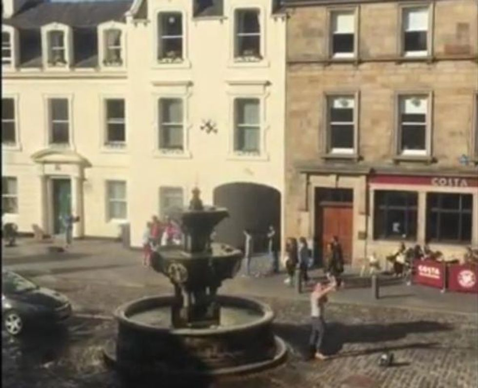 Hero Successfully Shuts Down Anti-Gay Preacher with Bagpipes