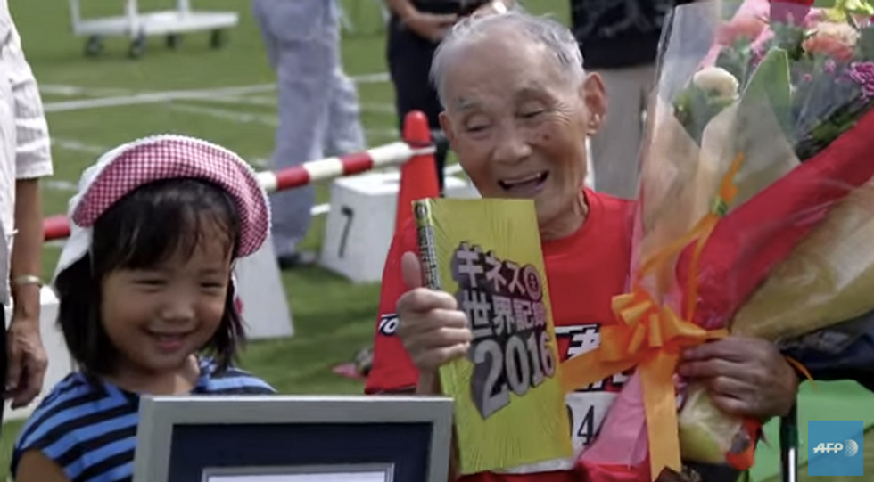 105-Year-Old Sprinter Sets World Record