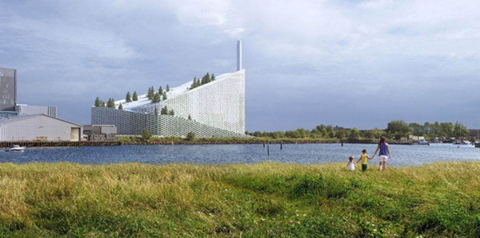 Denmark's New Eco-Friendly Waste-to-Energy Power Plant Will Feature a Giant Ski Slope on its Roof