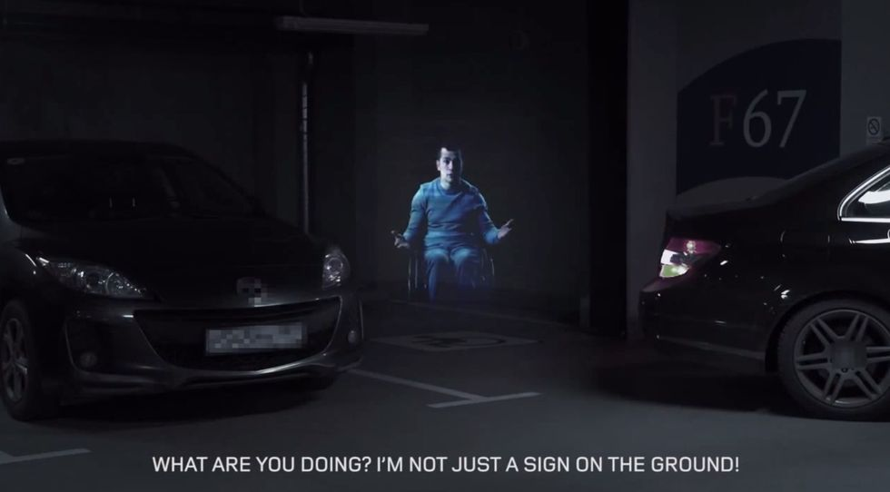 Pop-Up Holograms Confront Rude Drivers Trying to Park in HandicappedSpots