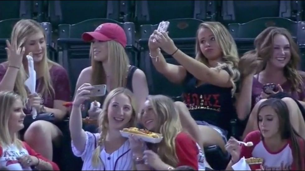 """Baseball Game """"Selfie"""" Sorority Sisters Put Their Newfound Fame to Good Use"""