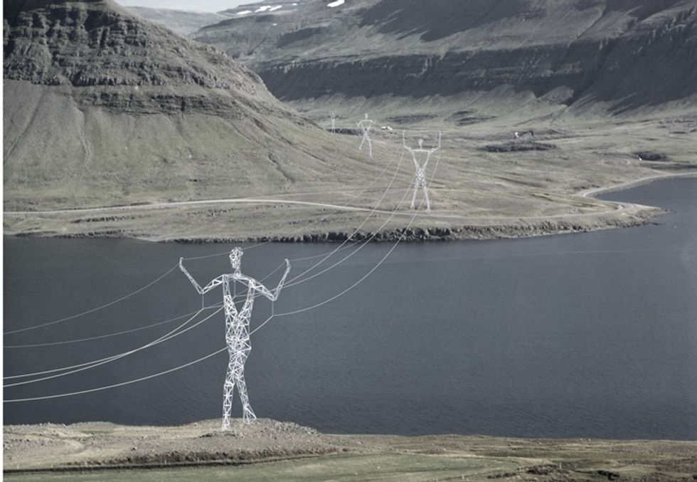 Power Pylons That Look Like Mythical Giants Turn Ordinary Infrastructure Into Massive Works of Art