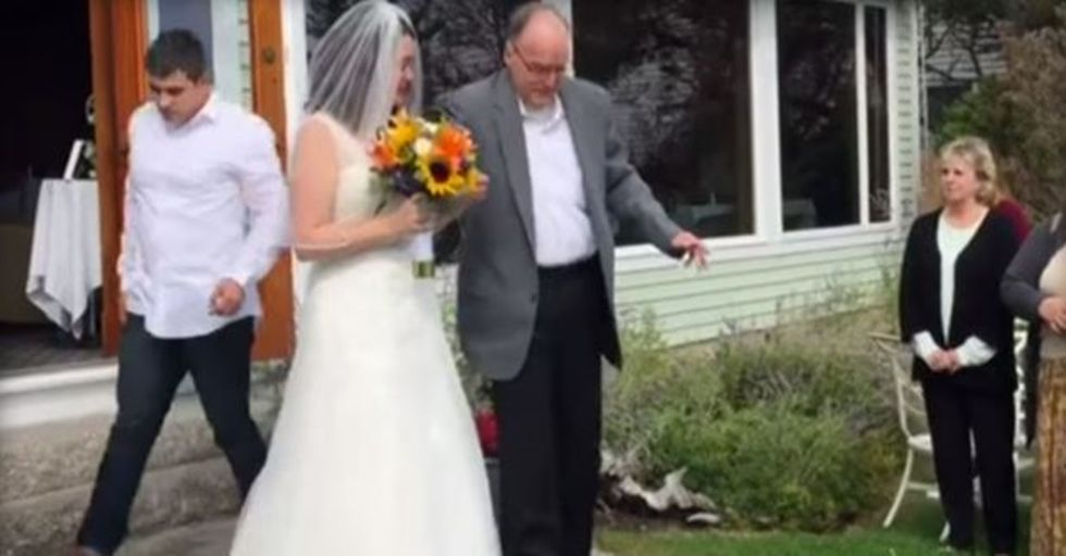 Wheelchair-Bound Father Learned to Walk So He Could Walk His Daughter Down the Aisle