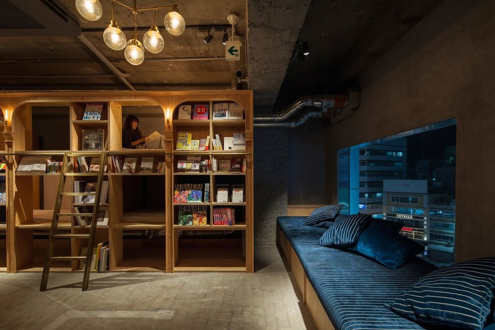 Spend the Night in This Cozy Bookstore-Themed Japanese Hotel