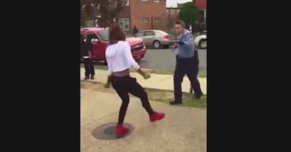 Cop's Attempt to Disperse Group of Teens Ends Spectacularly