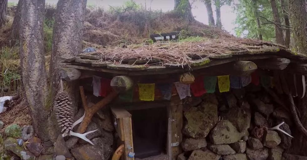 Check Out This Guy's Simple Underground Home