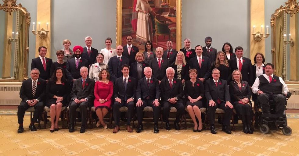 Canadian Prime Minister Announces a Cabinet With50 Percent Women