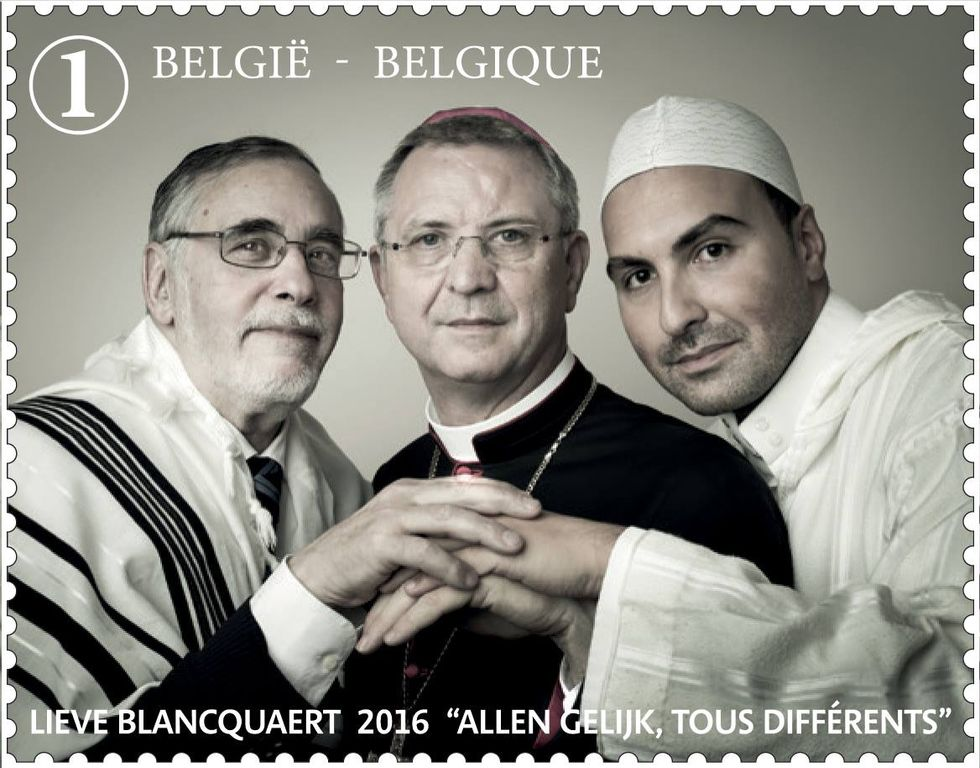 Belgium's New Stamp is a Perfect Picture of Religious Coexistence