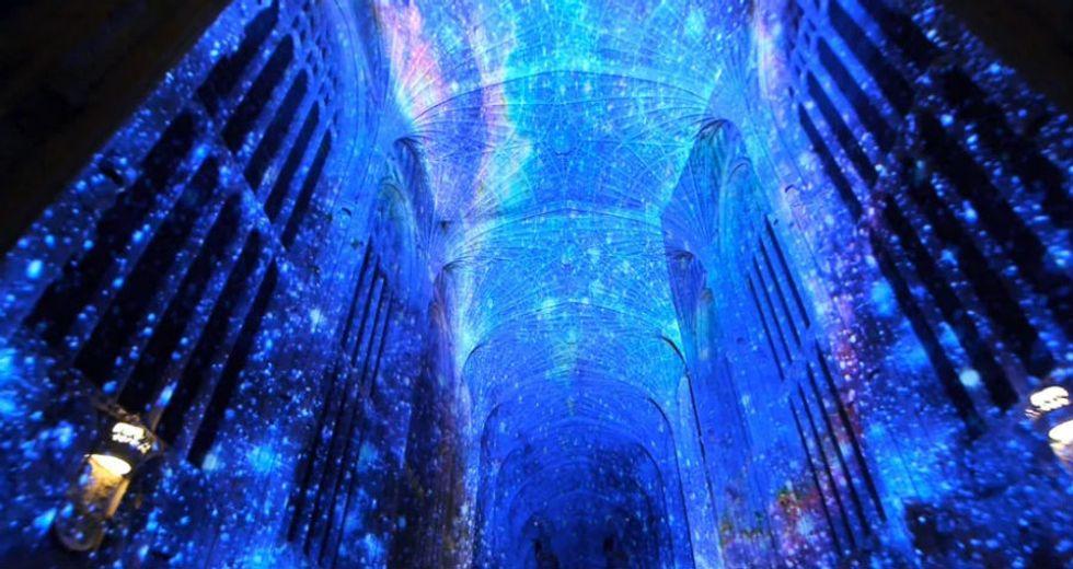 Digital Artist Projects Breathtaking Visualizations on Walls of Chapel in England